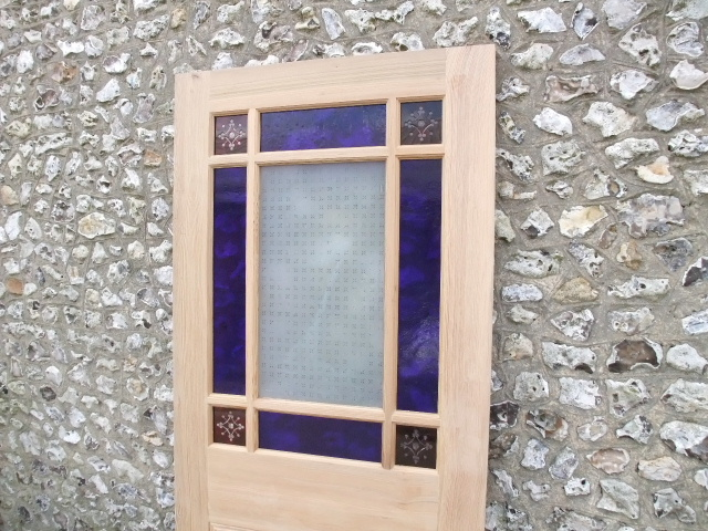Vestibule Door With Coloured Glass Stained Glass Doors Company