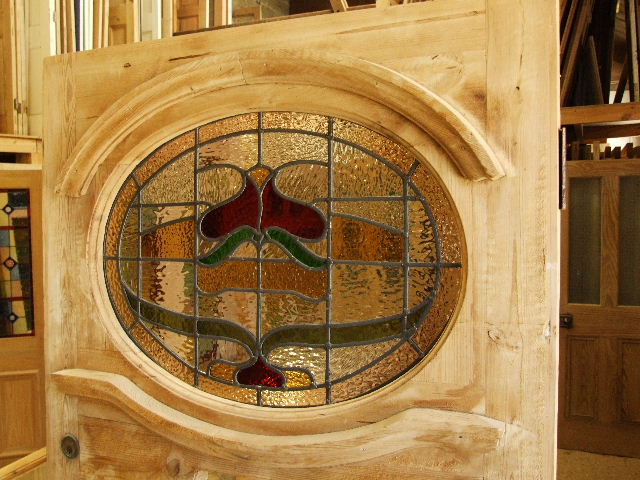1930,s Reclaimed Stained Glass Front Door