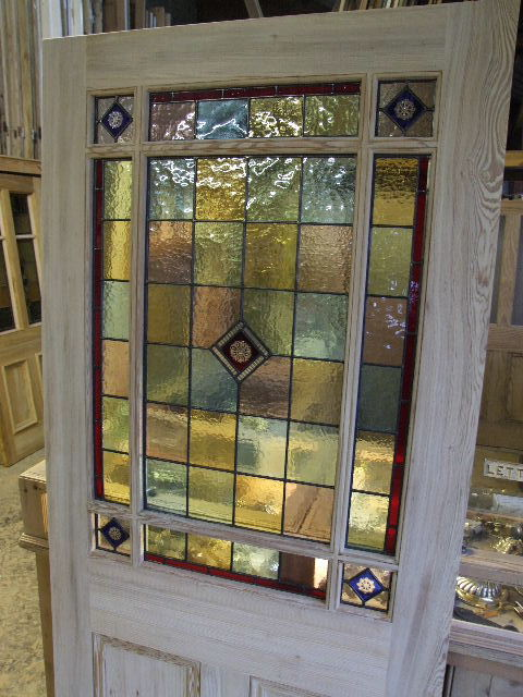 Internal Door Hinges >> External Downham Stained Glass Door - Stained Glass Doors Company