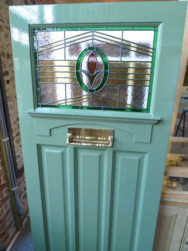 1930 S Art Deco Stained Glass Front Door Stained Glass