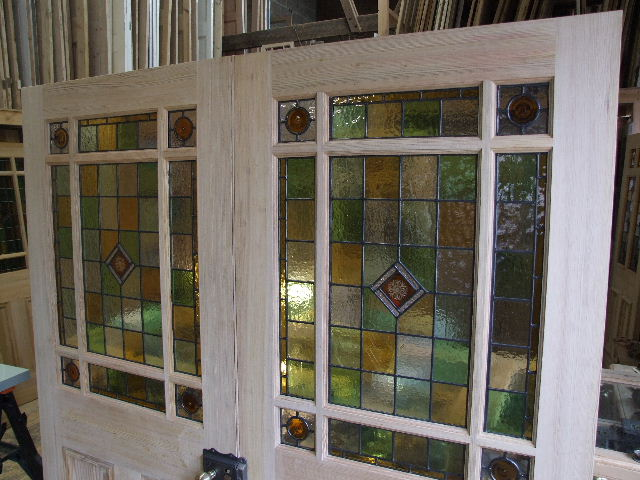 Stained Glass Pitch Pine Room Dividers Stained Glass