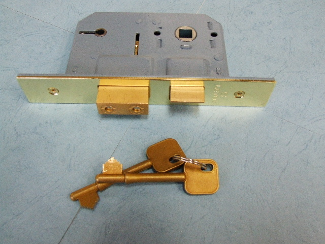 5 Lever Insurance Rated Sashlock : Brass Finish