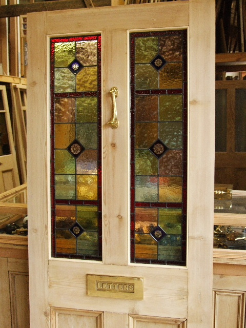 Stained Glass Reclaimed Victorian Front Door Stained