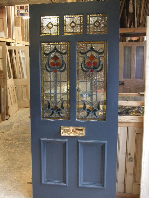 Victorian and edwardian glazed front doors for Glass for front door