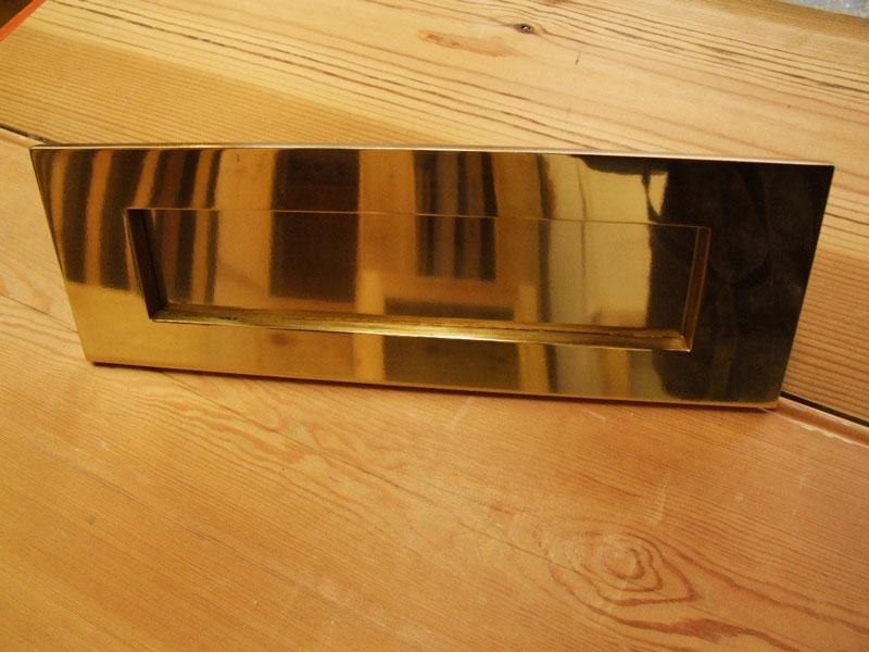 Brass Letterplate Plain