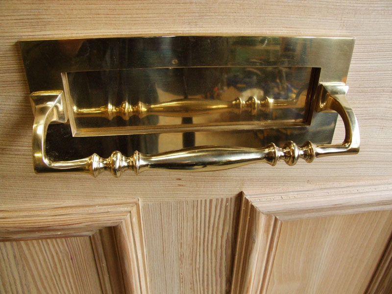 Brass Letterplate With Pull Handle