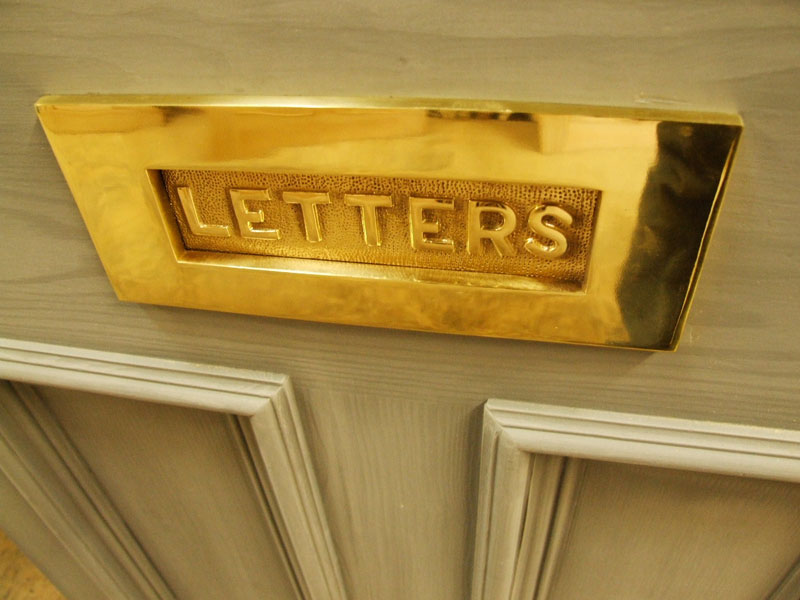 Brass Letterplate With Letters
