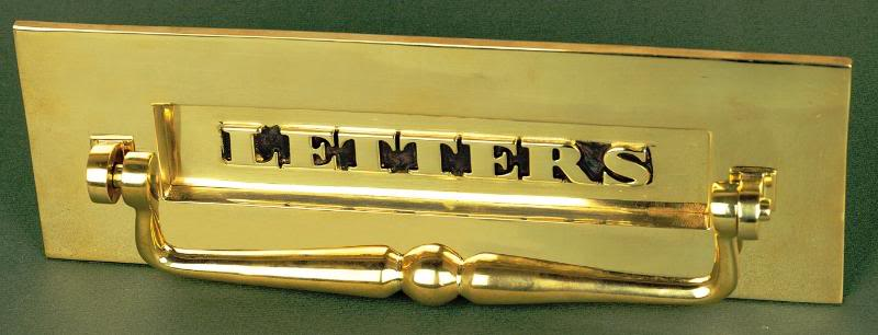 Brass Letters Letterplate With Clapper