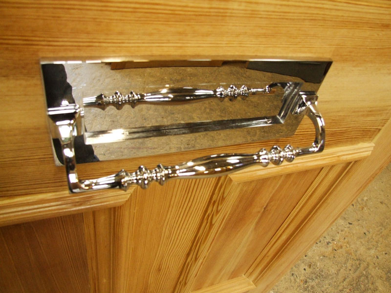 Chrome Letterplate With Pull Handle