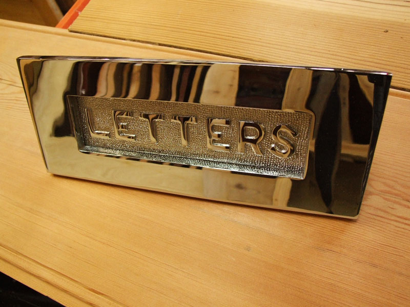 Chrome Letterplate With Letters