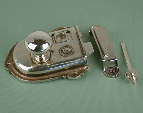 Cromwell Nickel Rim Latch