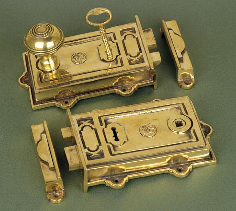 Davenport, Brass Single Lever, Dual Handed Rim Lock