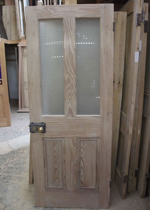 half glazed interior pitch pine door stained glass doors