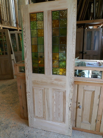 Half Glazed Victorian 4 Panel Style Pitch Pine Door
