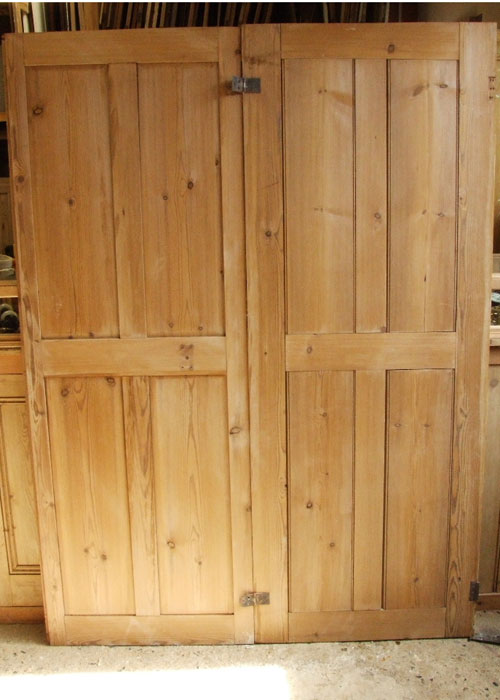 Pair Of Pine Victorian Shutters