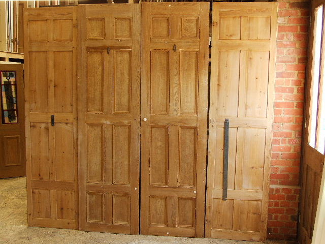 Substantial Set Of Antique Victorian Shutters Stained