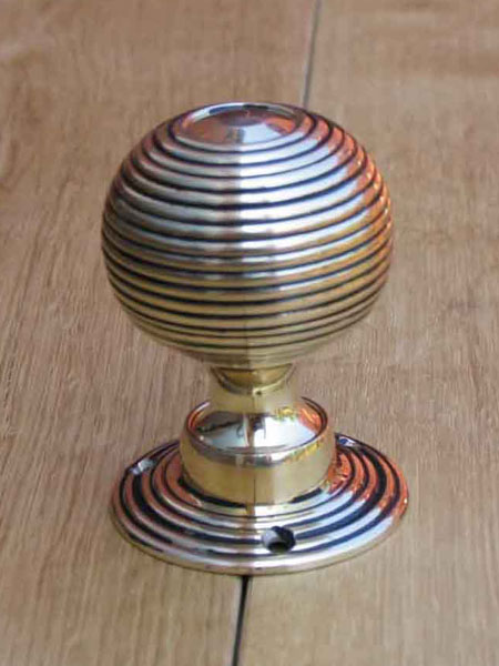 Solid brass beehive door knobs stained glass doors company for 1930s style door handles