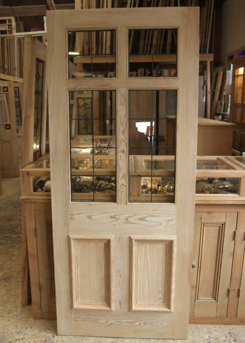 Pitch Pine Leaded Glass Front Door Stained Glass Doors Company