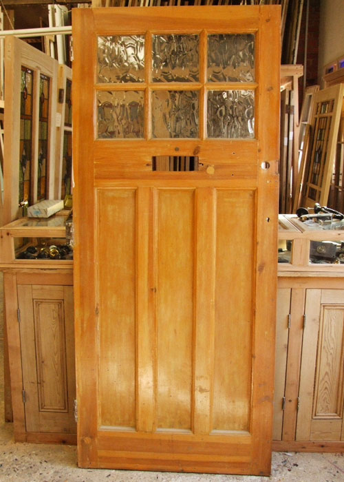 Reclaimed Pine 1930 S Front Door Stained Glass Doors Company