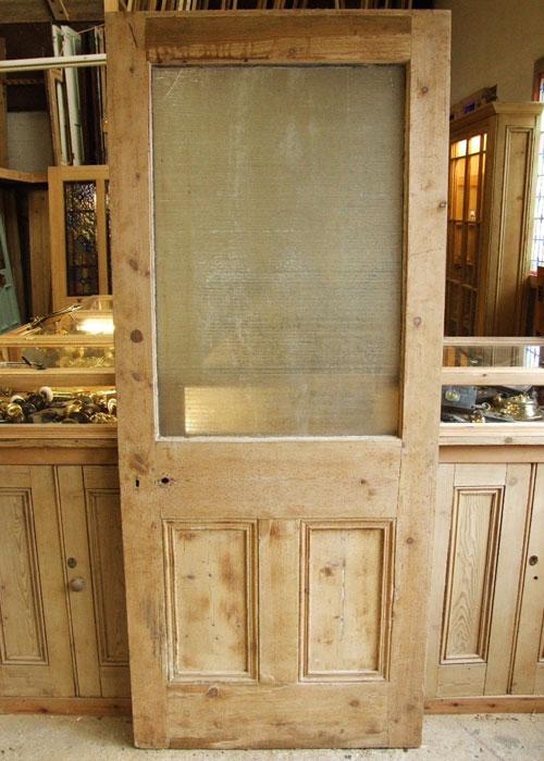Antique Pine Edwardian Front Door