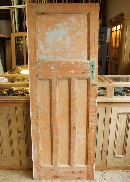 Reclaimed Pine Edwardian Internal Door Stained Glass