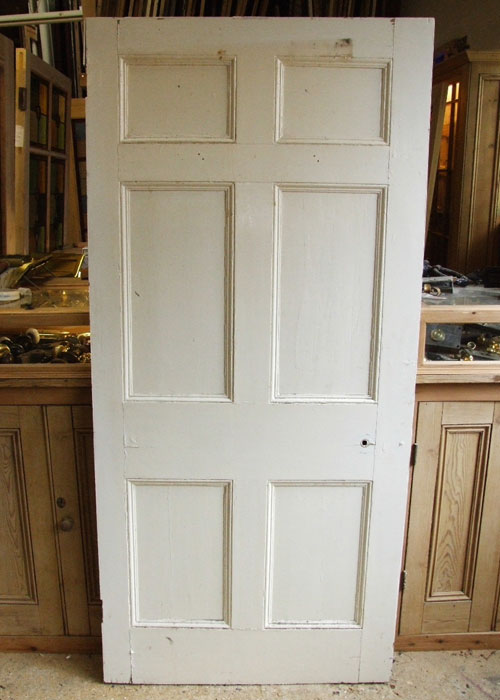 Painted Six Panel Georgian Door Stained Glass Doors Company