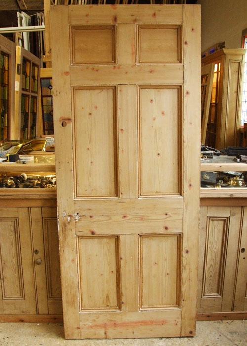 Stripped Pine Georgian Door