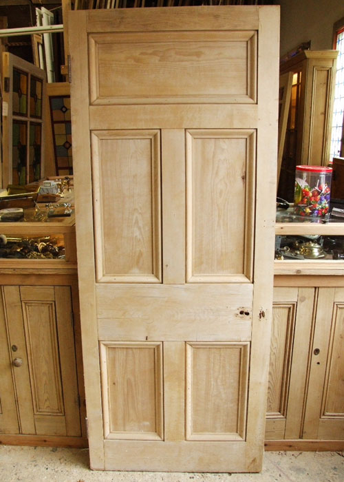 Salvaged Pine Victorian Front Door