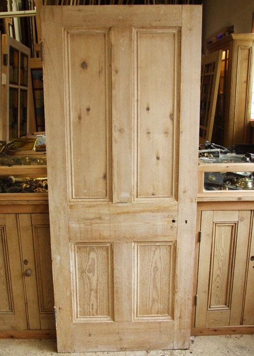 Reclaimed Pine Front Door Stained Glass Doors Company