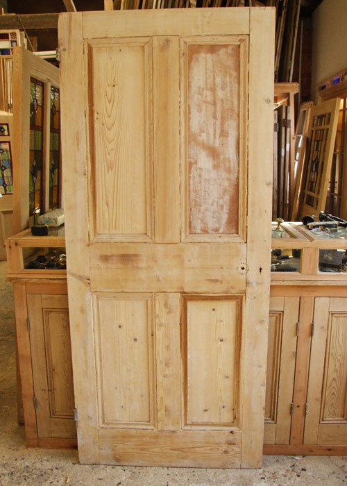 Reclaimed Pine Victorian Front Door Stained Glass Doors