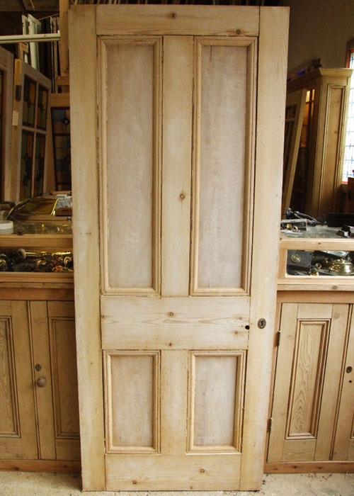Antique Pine Victorian Internal Door - Reclaimed Victorian Internal Doors