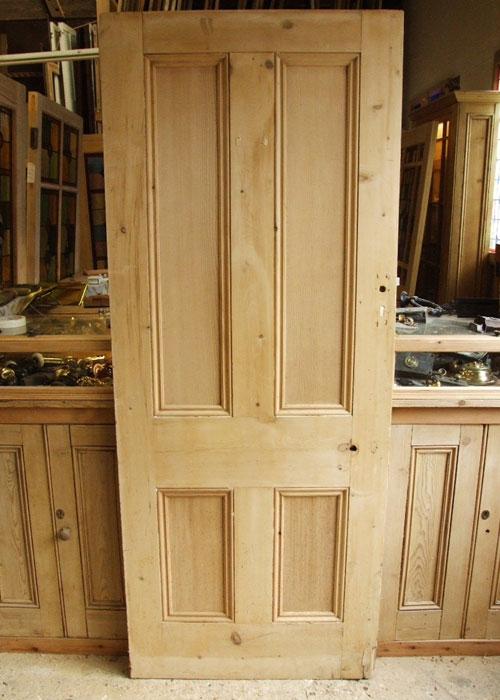 Antique Pine 4 Panel Victorian Internal Door Stained