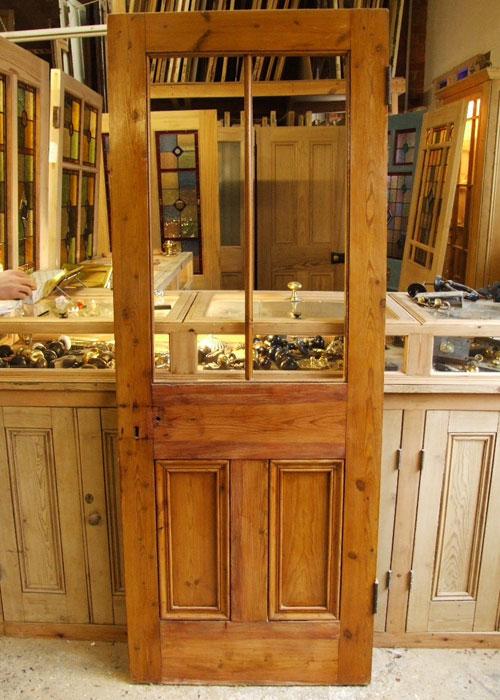 Half Glazed Pine Victorian Internal Door Stained Glass