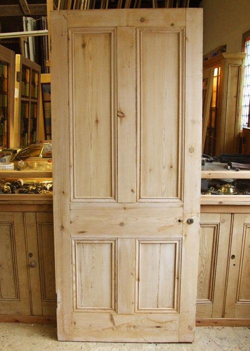 Reclaimed Pine Victorian Internal Door Stained Glass