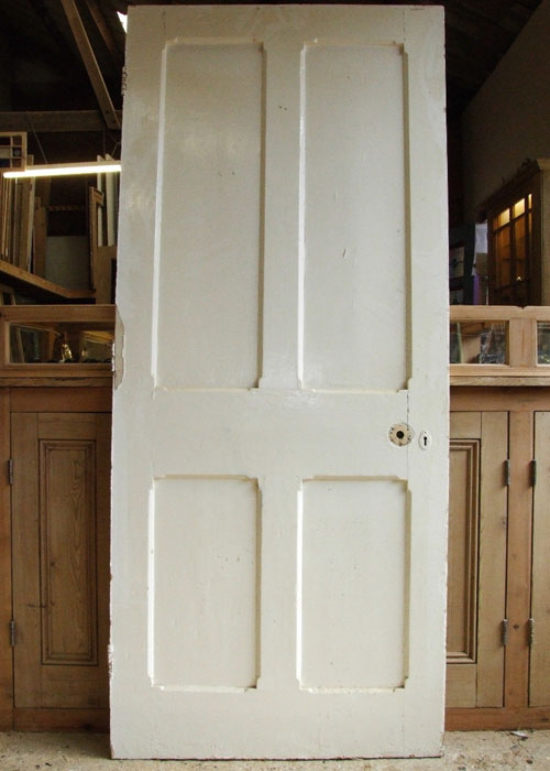 Painted Pine Victorian Internal Door Stained Glass Doors