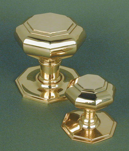 Brass Hexagonal Door Pull