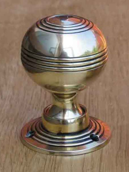 Solid Brass Reeded Door Knobs Stained Glass Doors Company