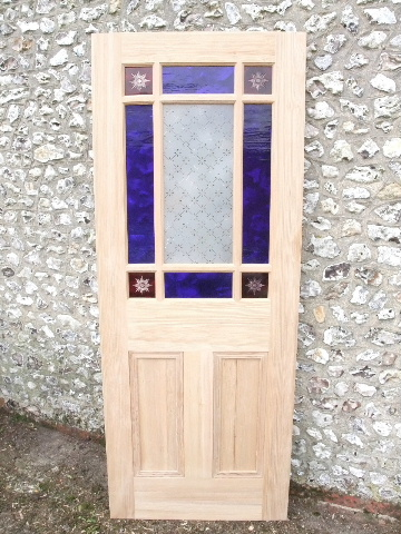 Vestibule Door With Coloured Glass