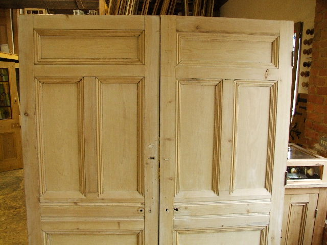 Victorian Reclaimed Room Dividers Stained Glass Doors