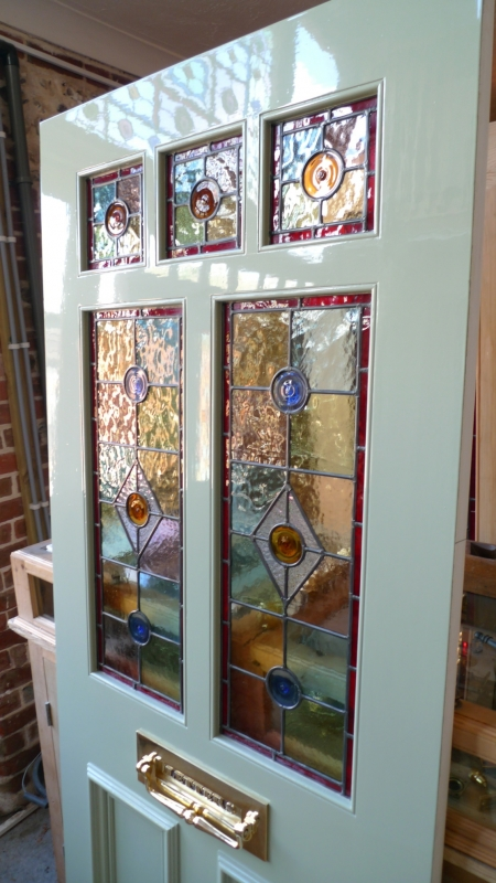 A Victorian Style Stained Glass Front Door Incorporating 3