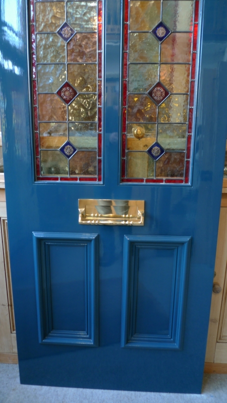 A Victorian Style Stained Glass Front Door Stained Glass Doors Company