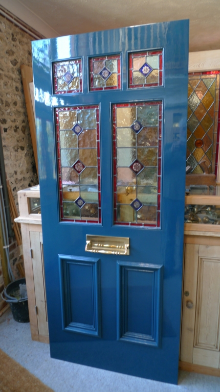 A Victorian Style Stained Glass Front Door