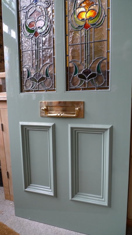 Art Nouveau Stained Glass Door Front Door Stained Glass Doors Company