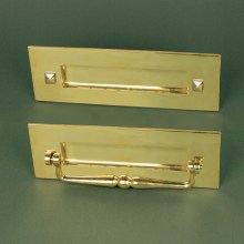 Brass Letterplate With Clapper
