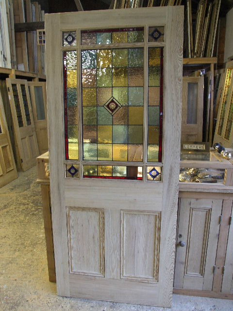 External Downham Stained Glass Door Stained Glass Doors