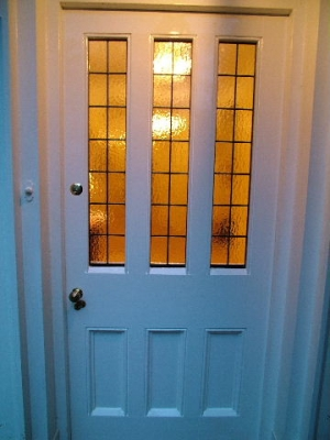 Stained glass doors victorian edwardian glazed front for Exterior door companies