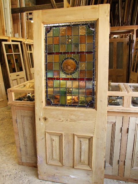 Original Victorian Stained Glass Front Door