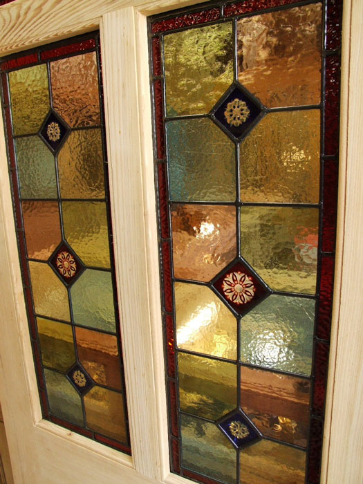 Pitch Pine Stained Glass Front Door Stained Glass Doors