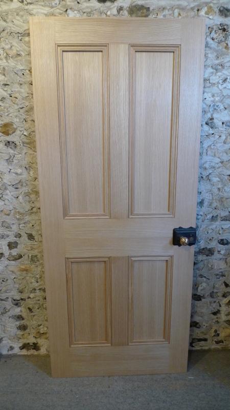 Solid 4 Panel Interior Engineered Oak Door