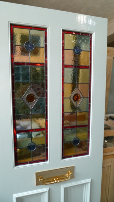Stained Glass Front Door 2 Over 2 Panels Stained Glass